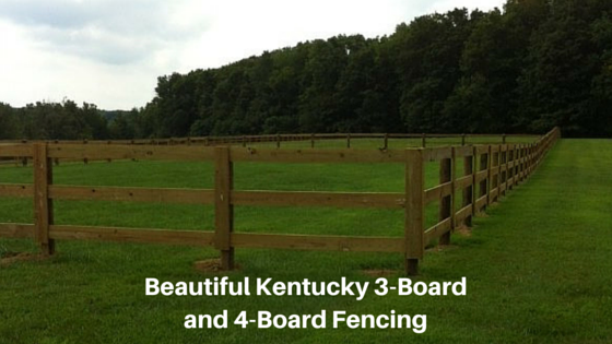 Burcor's Kentucky 3- and 4-Board Fencing is Perfect for Horse Farms & Training Facilities, Corrals and Perimeter Fencing
