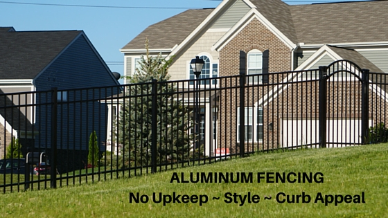 ALUMINUM FENCING – No Upkeep ~ Style ~ Curb Appeal